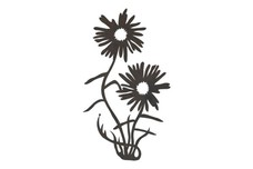 Daisies with Grass DXF File
