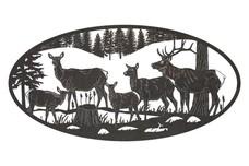 Deer Herd Oval Insert
