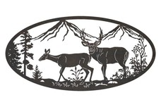 Deers Oval Insert