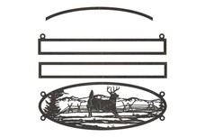 Deer Oval Sign