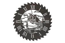Deer Sawblade Clock