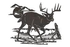 Deer Facing Sideways DXF File