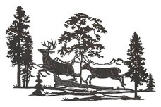 Galloping Deer DXF File