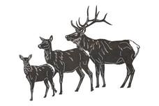 Deer Family DXF File