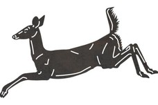 Leaping Deer DXF File