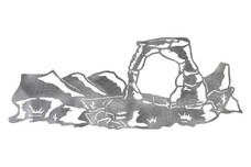 Delicate Arch Near Mountains DXF File