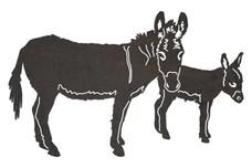 Two Donkeys DXF File