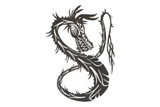 Twisting Dragon DXF File