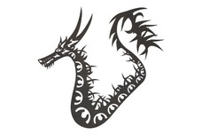 Spiky Tail Dragon DXF File