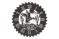 Duck Sawblade Clock