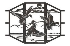 Ducks Sconce