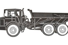 Dump Hauler Side View DXF File