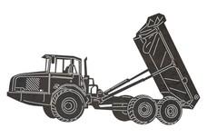 Unloading Dump Truck DXF File