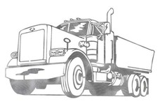 Single Dump Truck DXF File
