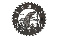 Eagle Sawblade Clock