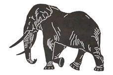 Walking Elephant DXF File