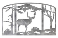 Elk Fireplace Screen