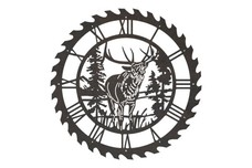 Elk Sawblade Clock
