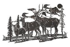 Elk Family DXF File