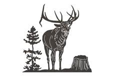 Bellowing Elk DXF File