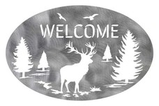 Elk Oval Welcome Sign
