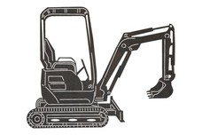 Mini Excavator DXF File