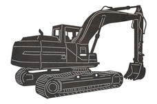 Excavator Rear-view DXF File