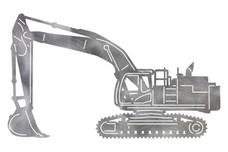 Crawler Excavator DXF File