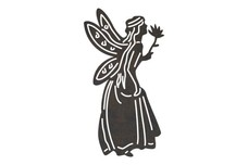 Fairy Holding Flower DXF File