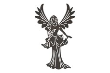 Fairy in Gown DXF File