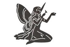 Kneeling Fairy DXF File