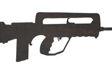 Famas F1 Assault Rifle DXF File
