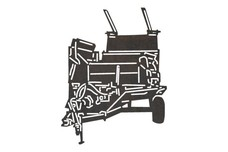 Farm Equipment Trailer Silhouette DXF File