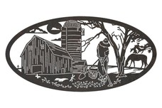 Farm Oval Art
