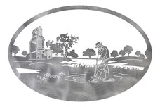 Farm Scene Oval