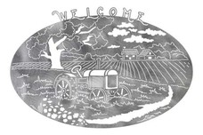 Farm Scene Welcome Sign