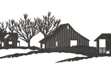 Snow-covered Farm DXF File