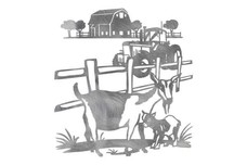 Farm with Goats DXF File