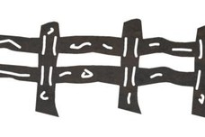 Post-and-Rail Fence DXF File