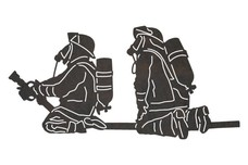 Firefighters Holding Hose DXF File