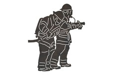 Firefighters Wearing Masks DXF File