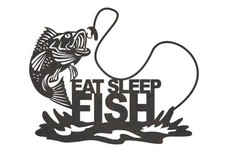 Fish Lettering Wall Art