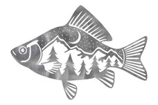 Single Fish DXF File