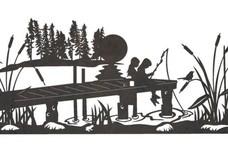 Fishing Driveway Topper