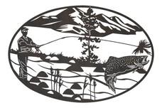 Fishing Oval Insert