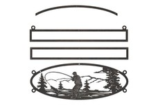 Fishing Oval Sign