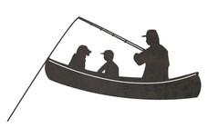 Dad Fishing DXF File