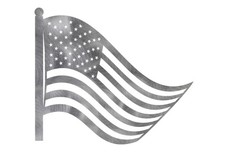 US Flag And Pole DXF File
