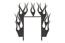 Flaming Frame DXF File
