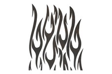 Stylized Flames DXF File